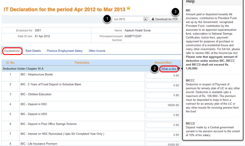 Submitting Your Income Tax Declaration Greytip Content – Employee Declaration Form