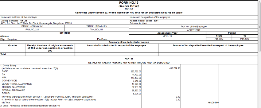 _Income Tax Form 16 - Greytip Content Repository - Greytip ...
